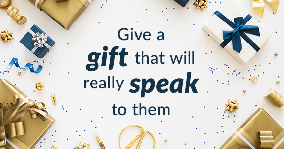 Give a gift that will really speak to them
